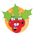 Christmas Holly Cartoon Characters vector image vector image