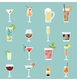 Cocktails icon set vector image vector image