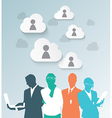 Colorful silhouette business people vector image vector image
