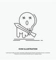 death frag game kill sword icon line gray symbol vector image vector image