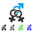 double mistress flat icon vector image vector image