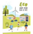 environmental conservation eco alternative energy vector image vector image