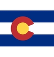 Flag of Colorado in correct proportions and colors vector image vector image