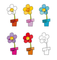 Flowerpot Icons vector image