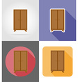 furniture flat icons 21 vector image vector image