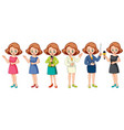 girl present professional character vector image