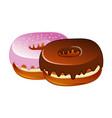 glazed sweet donut isolated icon vector image