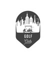 golf club logotype vector image