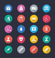 healthcare simple color icons vector image