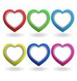 Heart 3d button vector image vector image