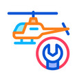 helicopter wrench icon outline vector image vector image