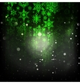 Holiday green abstract background EPS 10 vector image vector image