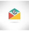 Internet mail in modern flat design vector image vector image