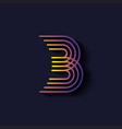 letter b logo template parallel lines style vector image vector image