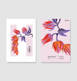 lobster claw heliconia realistic nature print vector image vector image