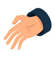 man hand icon isometric style vector image