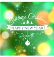 Merry Christmas e-card template vector image vector image