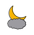 moon and cloud vector image vector image