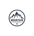 mountain explorer adventure black and white vector image vector image