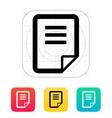 Notepad page flip icon vector image vector image