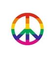 Peace symbol rainbow flat icon vector image vector image