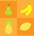 pear lemon banana anans vector image