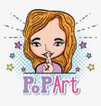pop art cartoon vector image vector image