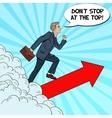 Pop Art Successful Businessman Walking to the Top vector image vector image