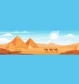 pyramids in desert flat panoramic vector image
