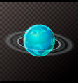 realistic uranus planet with texture and rings vector image