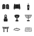 Religion set icons in black style Big collection vector image vector image