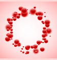 Round background with red bubbles vector image