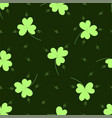 saint patrick seamless pattern with clover vector image