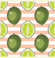 seamless pattern with hand drawn lime branches vector image vector image