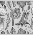 seamless pattern with nature mediterranean vector image vector image