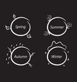 seasons frames nature chalk and black board set vector image
