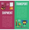 Shipment on warehouse infographics vector image vector image