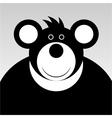 smiling cartoon bear vector image vector image