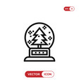 snow ball icon vector image vector image