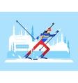 Sportsman biathlon character vector image vector image