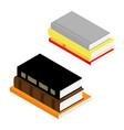 stack books isometric view isolated on white vector image vector image