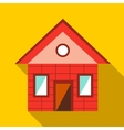 Toy house icon flat style vector image vector image