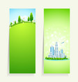 Two Vertical Banners vector image vector image