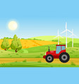 village with fields vector image vector image
