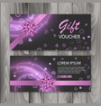voucher gift certificate happy valentine day vector image