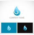 water drop curl bio logo vector image vector image