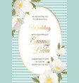 wedding invitation anemone hellebore white flowers vector image vector image