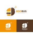 burger and bomb logo combination hamburger vector image
