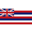 Flag of Hawaii correct proportions and colors vector image