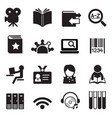 library icons symbol 2 vector image